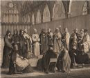 Anglican clergy in church. GROSE, antique print 1776